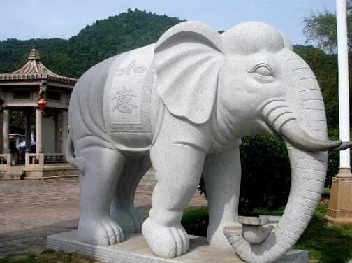 曲阳石雕如意大象_动物石雕_曲阳石雕
