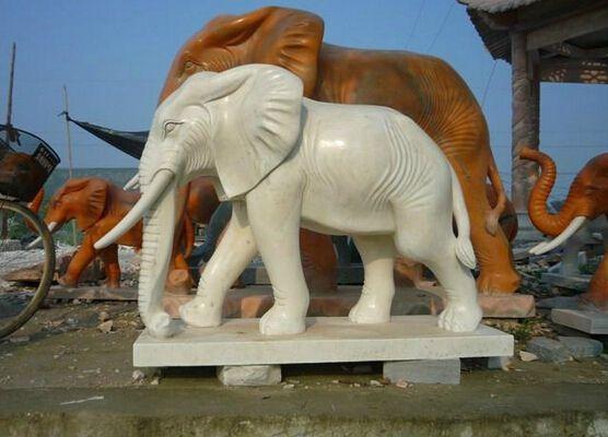 曲阳石雕 动物石雕 石雕大象